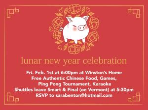 Lunar New Year Celebration @ Winston's House